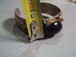Жесткий браслет с листочками листья мельхиор толщина 2 см диаметр 5,7 см, фото №4