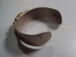 Жесткий браслет с листочками листья мельхиор толщина 2 см диаметр 5,7 см, фото №9