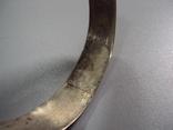 Жесткий браслет мельхиор толщина 1,9 см внутр. диаметр 6,7 см, фото №9