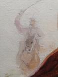 1978г.Тарас Бульба.Жаль трубку.Копия.88.5х68.5см.Подписана., фото №11