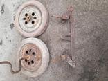 Запчасти к детской педальной машины (колеса и тяга), фото №8