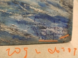 """""""Прощание на краю села"""". 1951г. 40х31. Масло. Фанера., фото №8"""