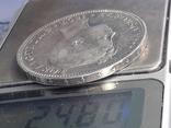 5 песет, Испания, 1897 год, король Альфонсо XIII, серебро 0.900, 25 грамм, фото №4