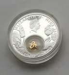 1 доллар год Змеи Серебро и позолота Остров Ниуэ, фото №3