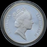 1 Доллар 1986 Черепаха - 25 лет Всемирному фонду дикой природы (0.925, 28.28г), Бермуды, фото №3