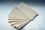 Набір перфокарт 12 шт. для ЕС ЕОМ (аналог IBM 360), фото №2