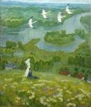 Большая картина Летят журавли 1975 год, Полурезов Г.И. (1927), фото №3