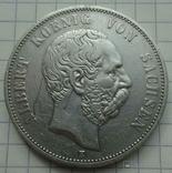 5 марок, 1893 год, Саксония,, фото №2