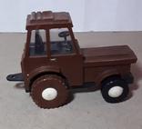 Игрушка трактор МТЗ Беларусь. Cделано в СССР, длина 13 см, фото №3