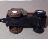 Игрушка трактор МТЗ Беларусь. Cделано в СССР, длина 13 см, фото №5