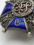 Офіцерська відзнака 8 уланського полку кн. Юзефа Понятовського Краків, фото №3