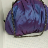 Вечерняя сумочка из тафты на цепочке. 16х15см без ручки. Новая, фото №3