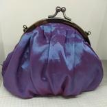 Вечерняя сумочка из тафты на цепочке. 16х15см без ручки. Новая, фото №5