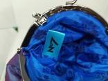 Вечерняя сумочка из тафты на цепочке. 16х15см без ручки. Новая, фото №8