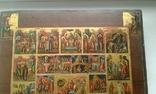 Икона Праздники с Воскресением, Страстями Господними. Ковчег, фото №3