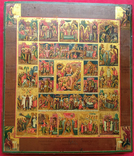 Икона Праздники с Воскресением, Страстями Господними. Ковчег, фото №11