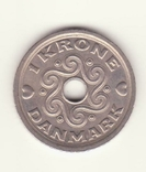 1 крона 2005 р., Данія, фото №3
