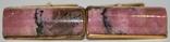 Латунные позолоченные запонки с камнем (СССР), фото №9