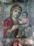Старинная икона Тихвинская Пресвятой Богородицы, фото №2