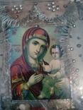 Старинная икона Тихвинская Пресвятой Богородицы, фото №3