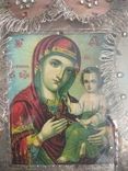 Старинная икона Тихвинская Пресвятой Богородицы, фото №12
