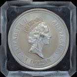 1 Доллар 1995 Кукабарра 1oz, Австралия Унция, фото №3