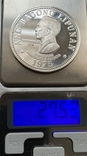 Монета 50 песо, 1975 год, Филипины, серебро 975, вес 27,53 грамм, фото №4