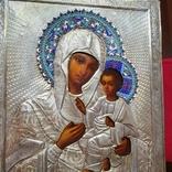 Икона Богородицы. Эмаль, серебро 84пр. Аналой., фото №4