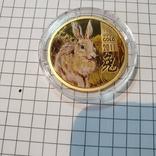 Острова Кука 2011 год 25 10г золота 9999 год Кролика, фото №3