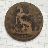1 фартинг 1891, фото №4