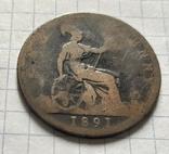 1 фартинг 1891, фото №5