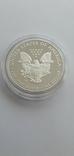 Серебрянная монета американский орёл 2016 W proof, фото №3