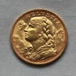 20 франков 1902 г Швейцария золото 6.50 г, фото №2