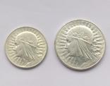5 злотых 1934, 10 злотых 1933, фото №3