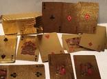 Позолоченные игральные карты (24K) 100 долларов / сувенірні гральні карти, 54 шт, фото №4
