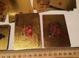 Позолоченные игральные карты (24K) 100 долларов / сувенірні гральні карти, 54 шт, фото №5