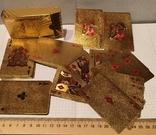 Позолоченные игральные карты (24K) 100 долларов / сувенірні гральні карти, 54 шт, фото №8