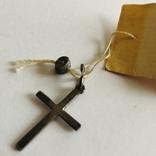 Крестик серебро 916 пробы вес1,15 гр винтаж СССР, фото №2