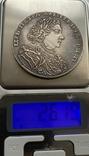 Монета 1 рубль 1707 год, вес 26,2 грамма. Копия, фото №6