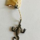 Скорпион кулон подвеска серебро 925 СССР, фото №4