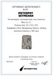 Заготовка-вставка з метеорита Seymchan, 2,1 г, із сертифікатом автентичності, фото №3