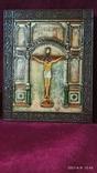 Старинная Икона Господа Иисуса Христа со святыми, фото №2