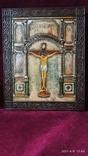 Старинная Икона Господа Иисуса Христа со святыми, фото №8