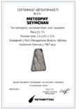 Заготовка-вставка з метеорита Seymchan, 1,5 г, із сертифікатом автентичності, фото №3