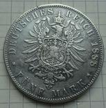 5 марок, 1888 год, Баден,, фото №5