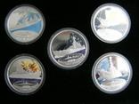 """Набор монет """"Исторические линкоры Второй Мировой войны"""", 2007 г., фото №4"""