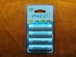 Аккумуляторы Palo АА 3000mAh 4 шт + Подарок, фото №3