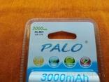 Аккумуляторы Palo АА 3000mAh 4 шт + Подарок, фото №4