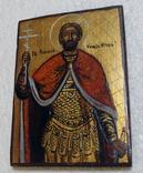 Икона дорожная Св. князь Игорь в старинной рамке, фото №3