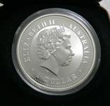 Год ЛОШАДИ, 1-й Лунар, Австралия, 2002 - унция, серебро ПОЗОЛОТА, фото №3